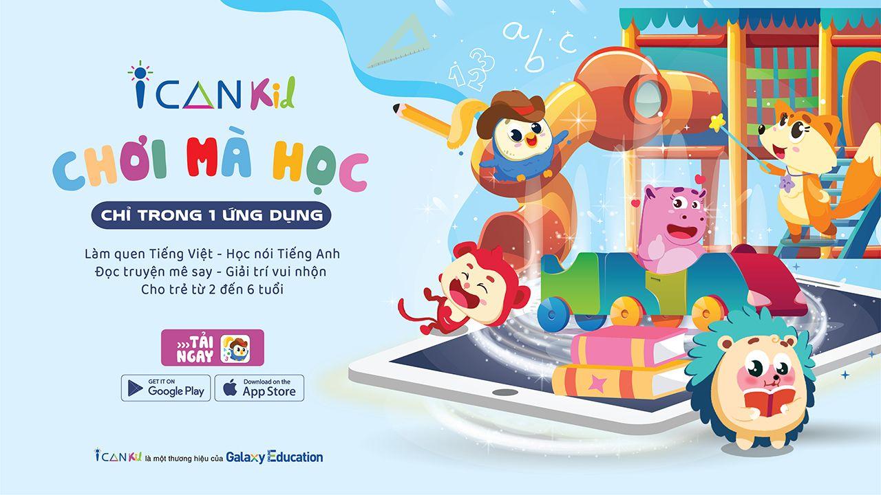 ICANKid cùng con bứt phá mùa tựu trường online